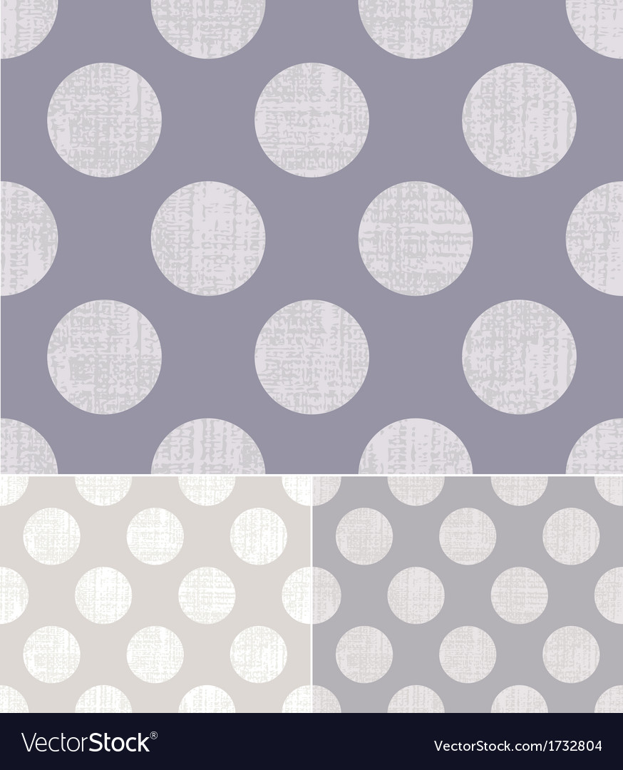 Seamless polka dots textured pattern vector