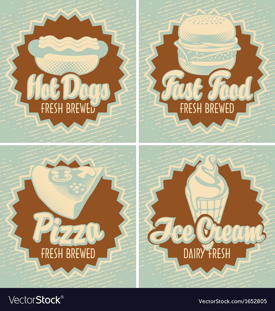 Fast food brewed vector