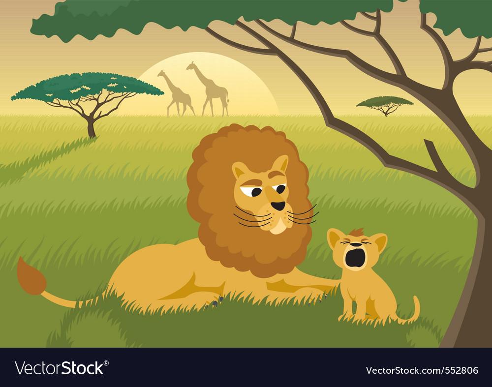 Lions in wild vector