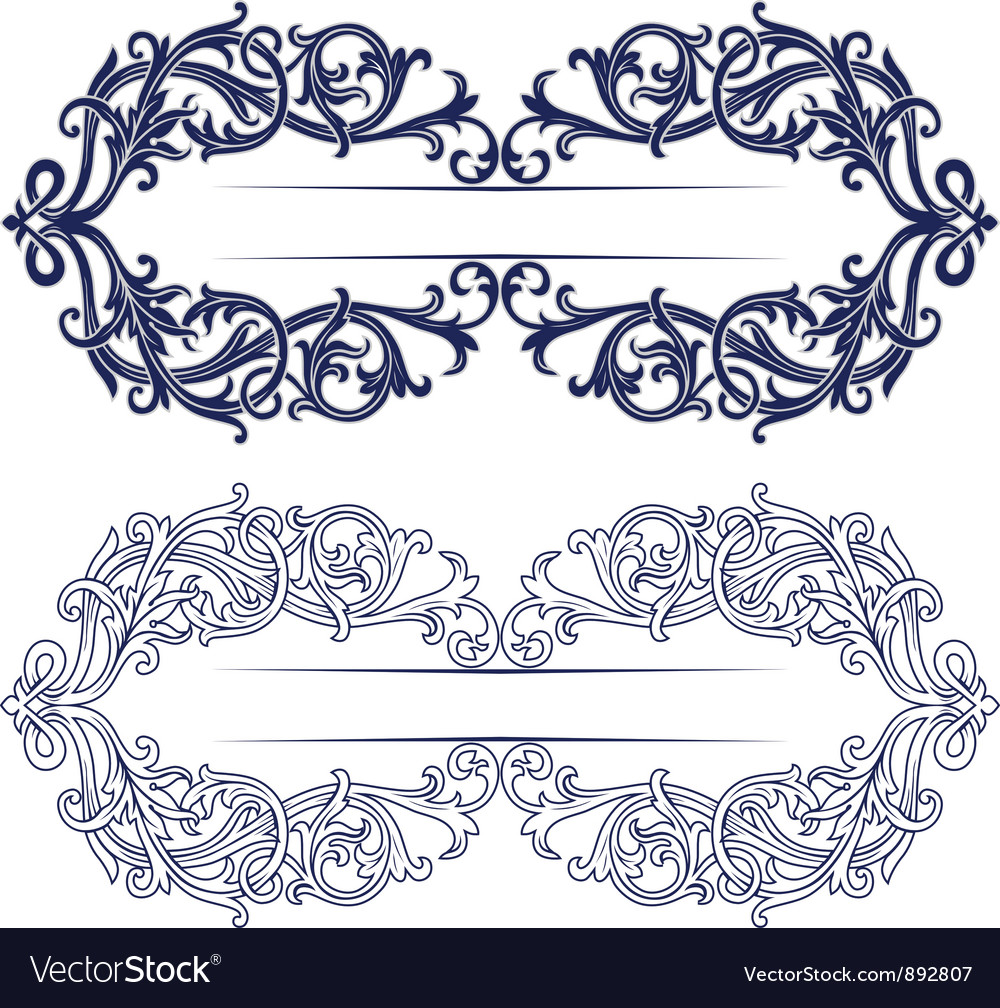 Antique retro lace background vector