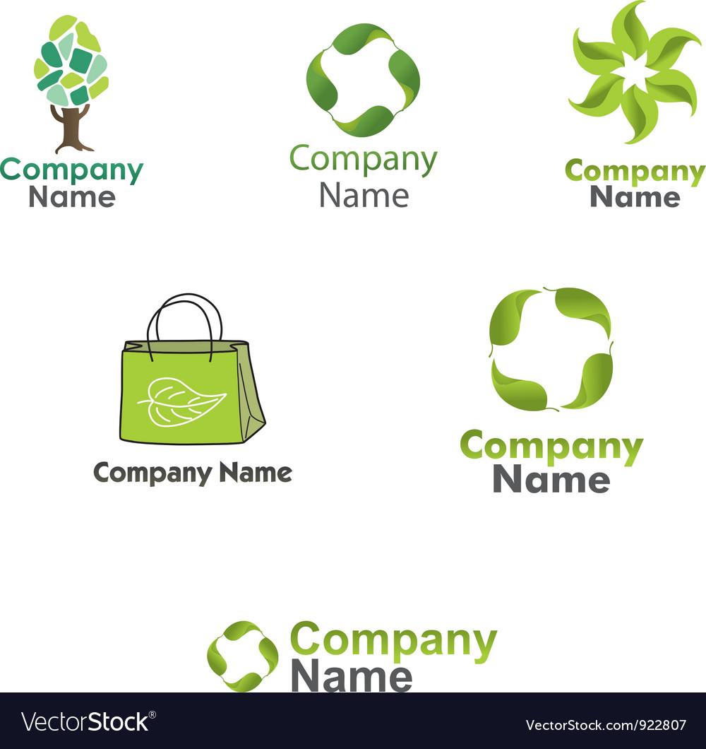 Eco logos set vector