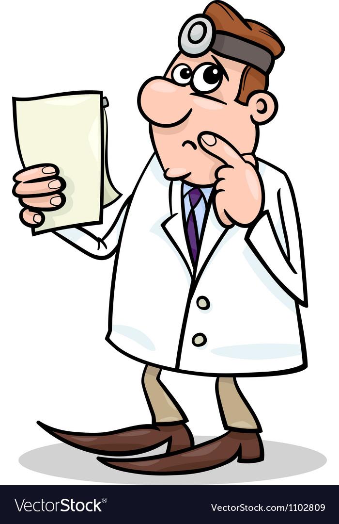Concerned doctor cartoon vector