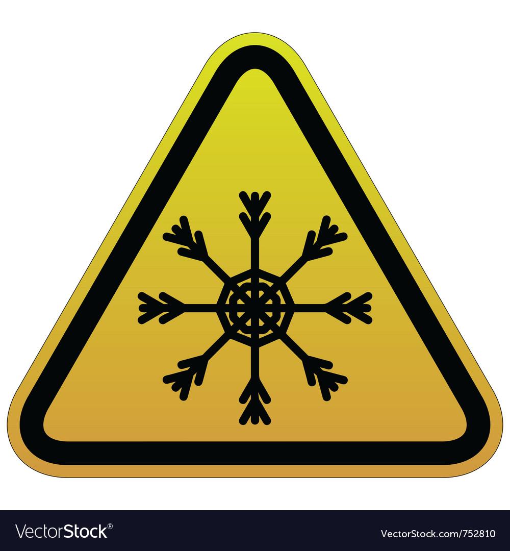 Warning sign of snow vector