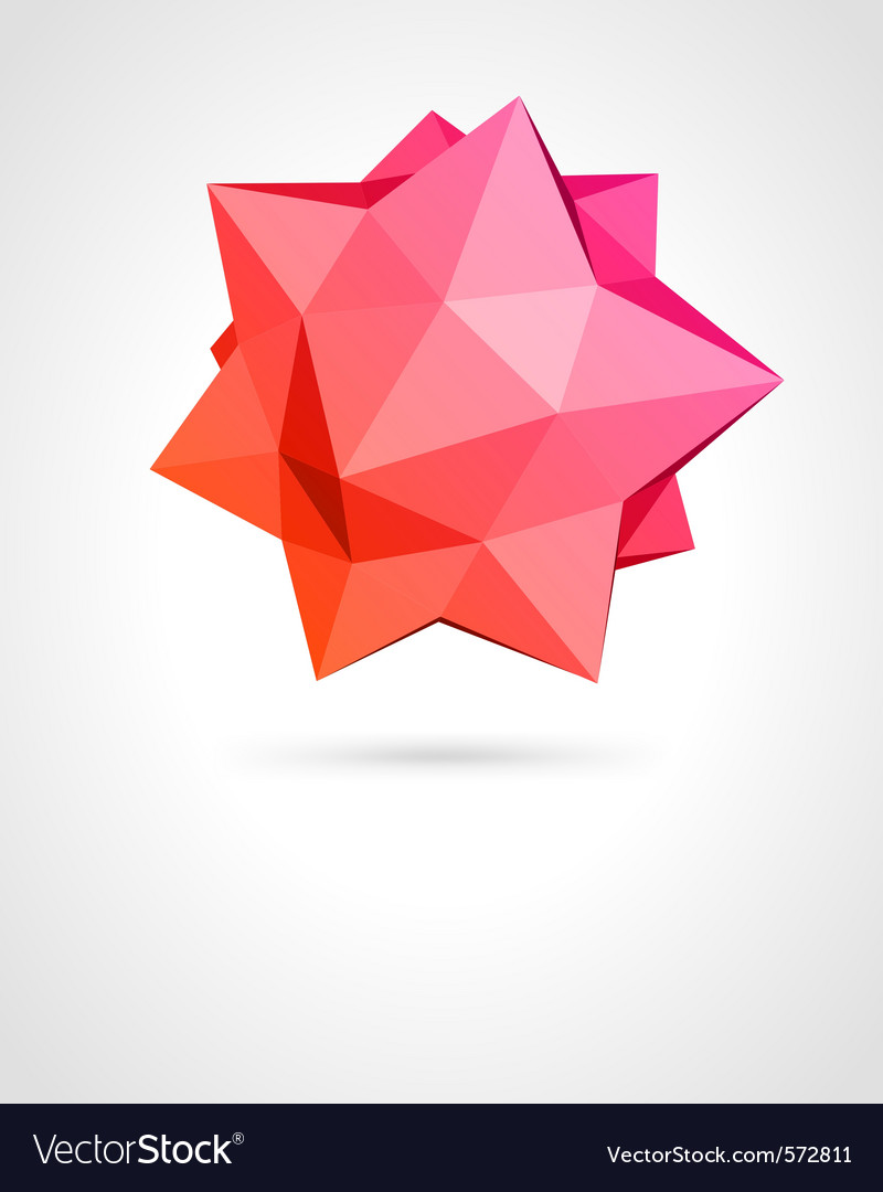 Abstract modern shape vector