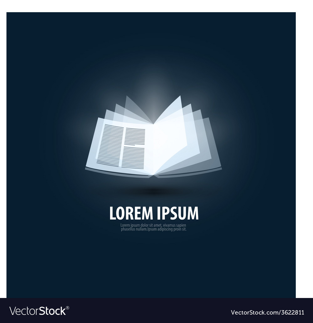 Book logo icon sign emblem template vector