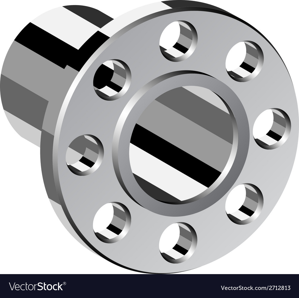 Chrome pipe flange vector