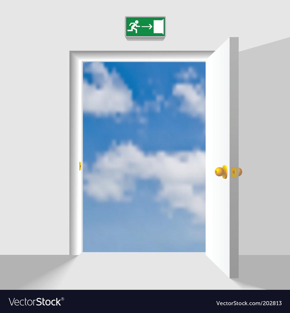Door to the sky vector