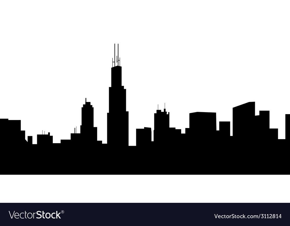Chicago morning skyline vector