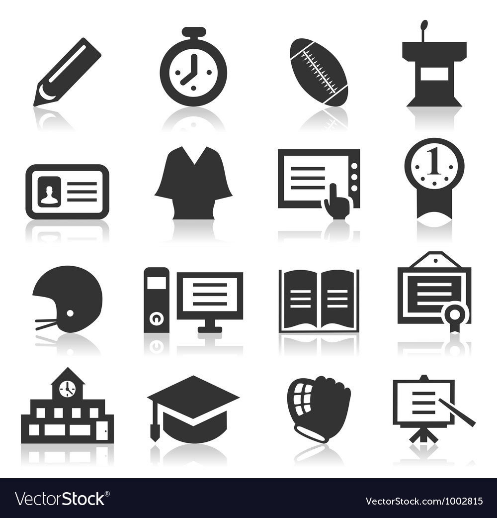 School an icon vector