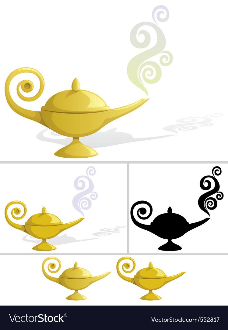 Magic lamp vector