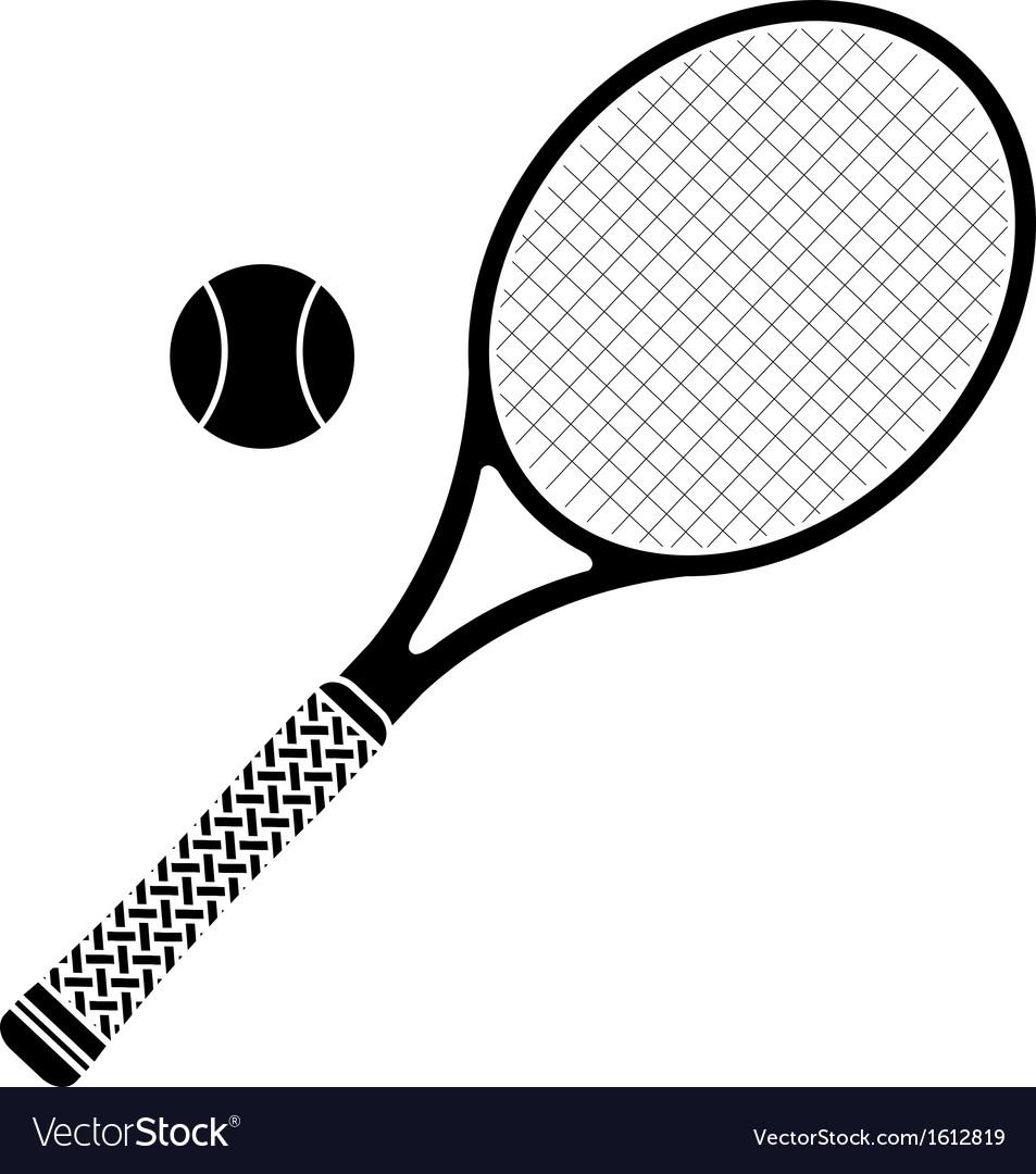 Tennis racket stencil vector