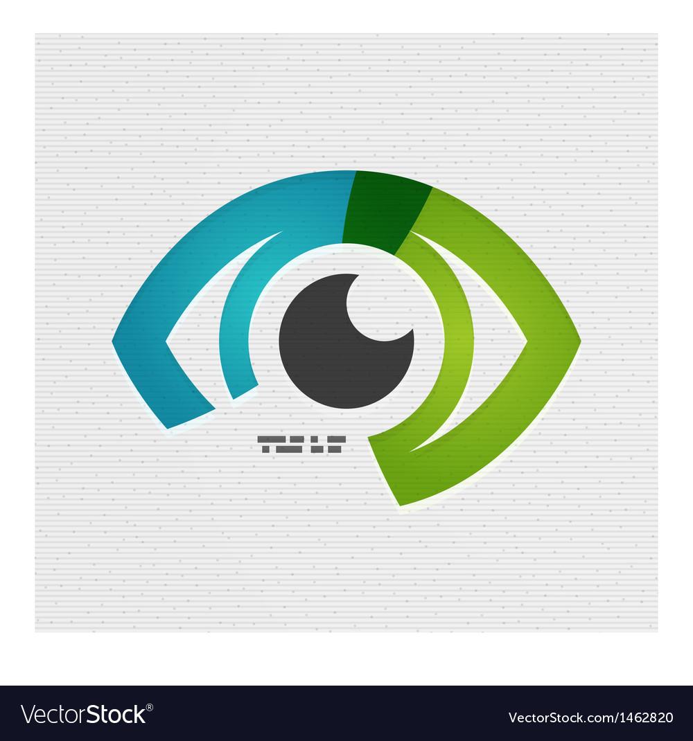 Colorful eye paper design vector