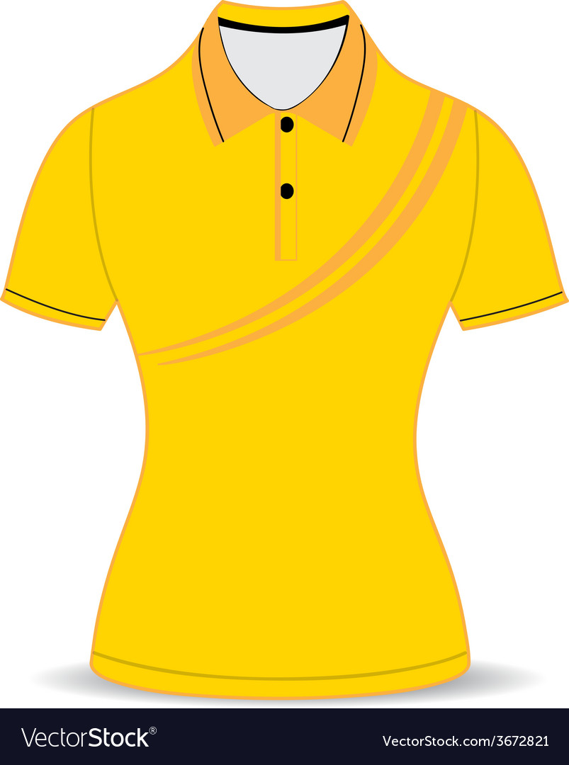 Black polo shirt outline vector