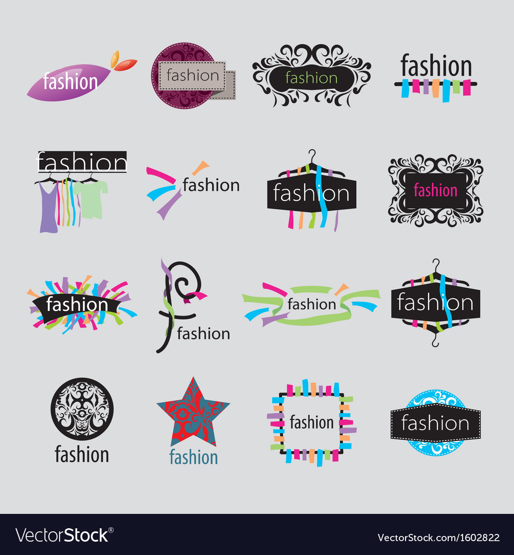 Collection of logos fashion accessories vector
