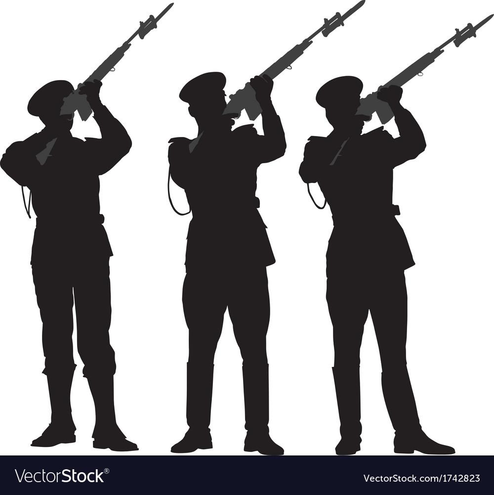 Guard of honor 2 vector