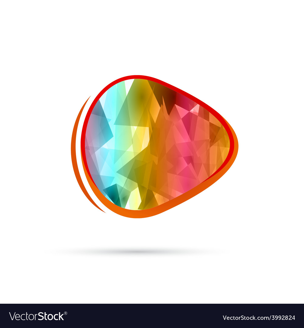Color background abstract circles vector