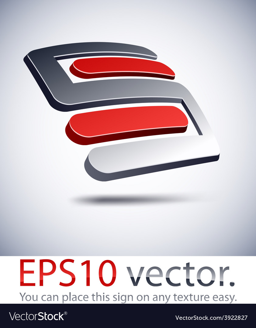 3d s modern logo icon vector