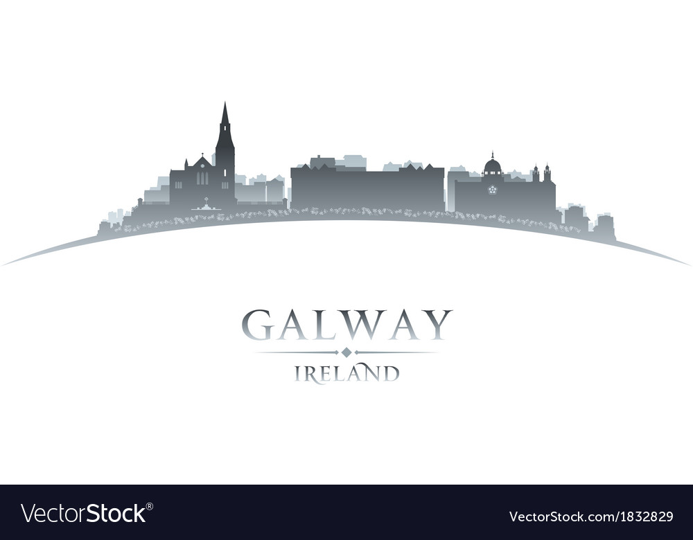 Galway ireland city skyline silhouette vector