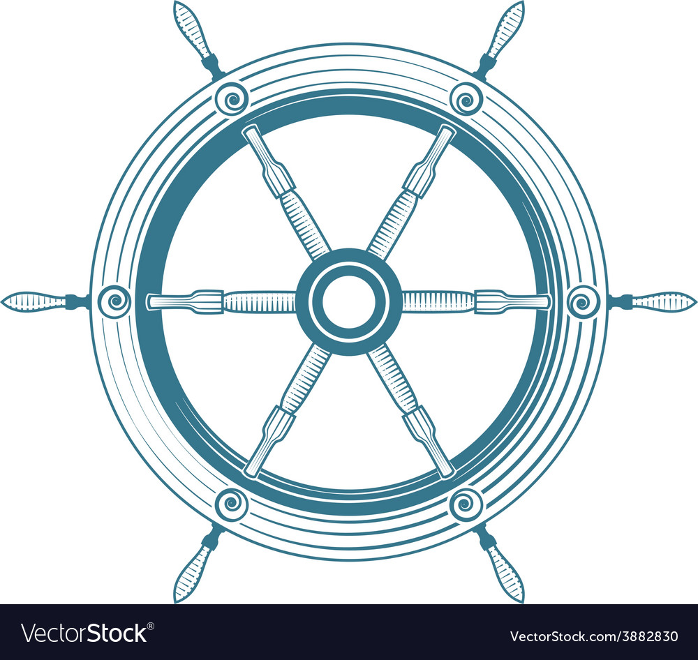 Helm boat vector