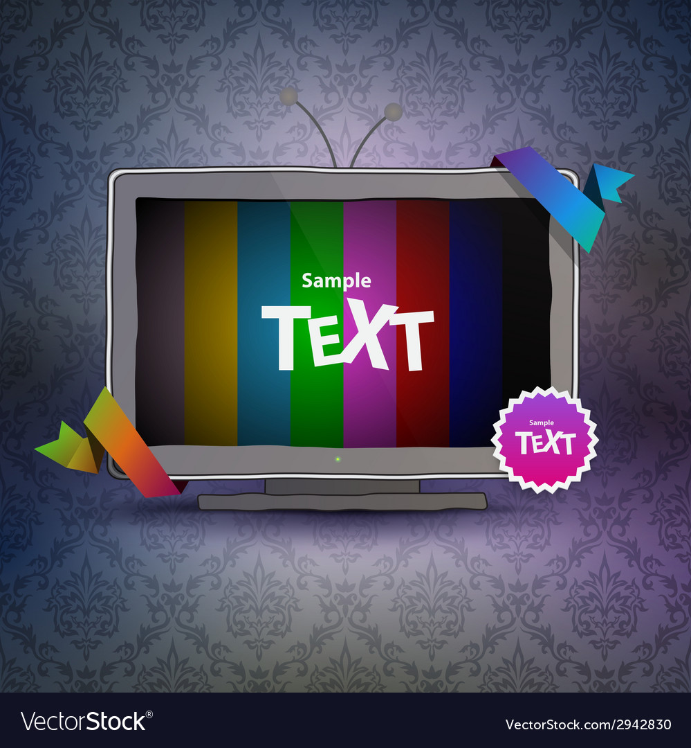 Tv box with empty screen vector