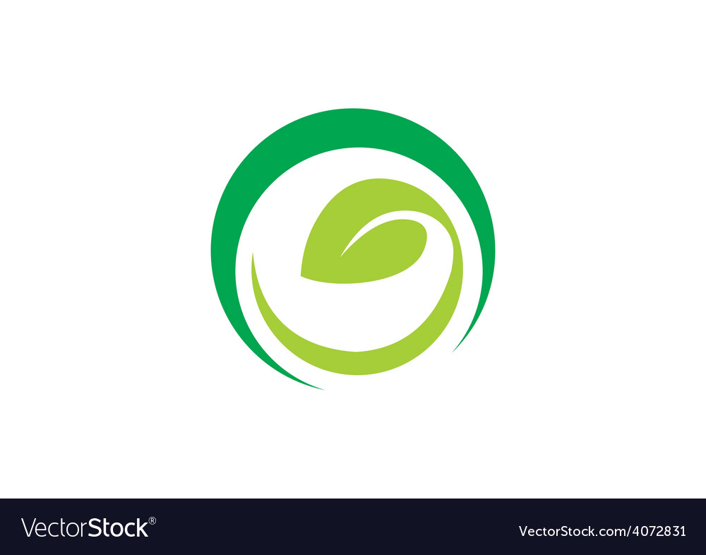 Leaf ecology vegetarian curl abstract logo vector