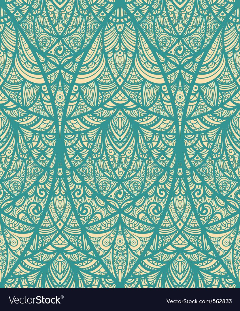 Seamless eastern pattern vector
