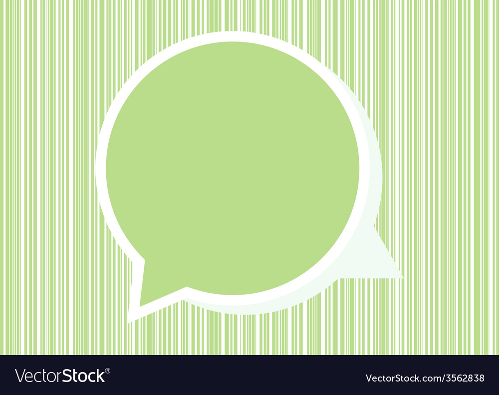 Speech green bubble for your text vector