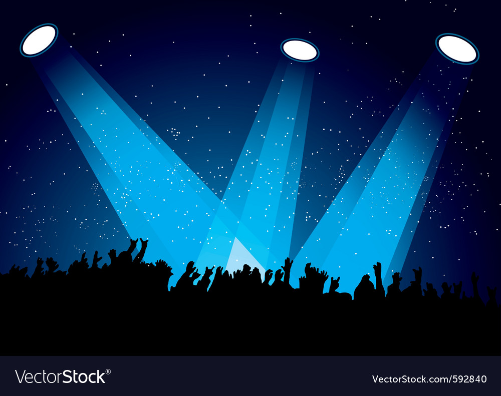Concert crowd vector