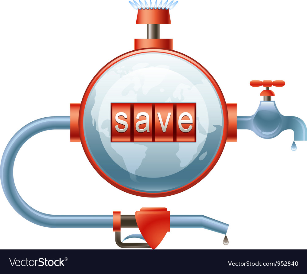 Save energy resources vector