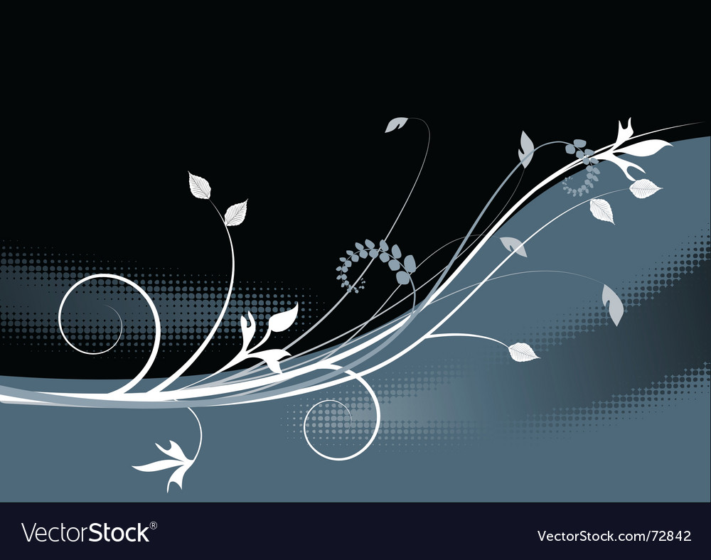 Floral background meadow garden vector