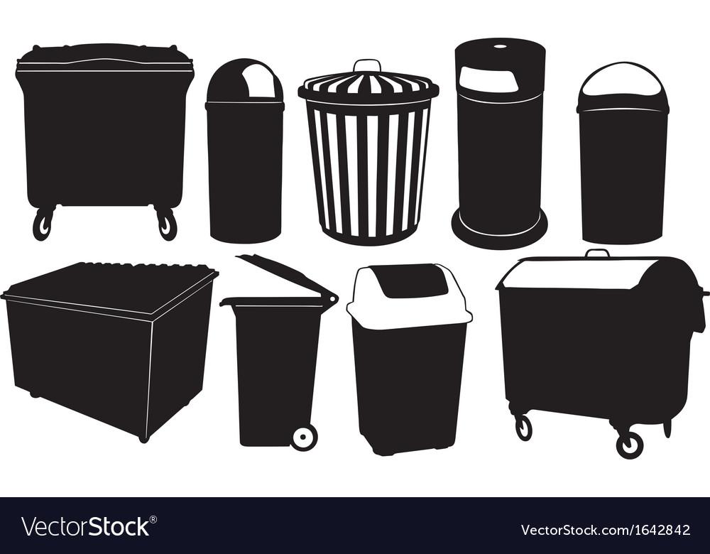 Garbage bins vector