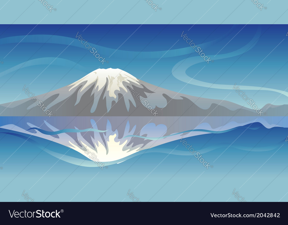 Snow mountain vector
