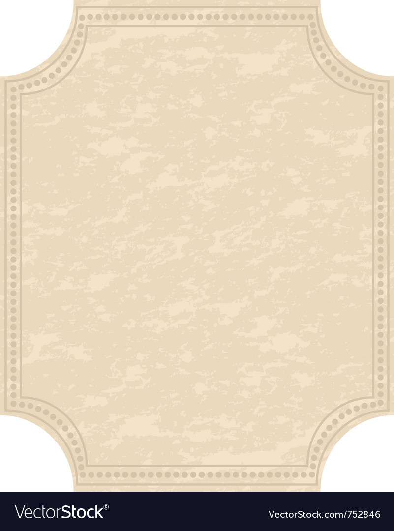 Old grunge sheet of paper vector