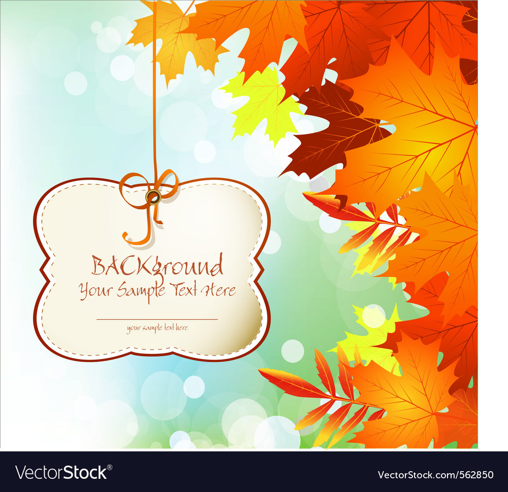 Autumn festive background vector