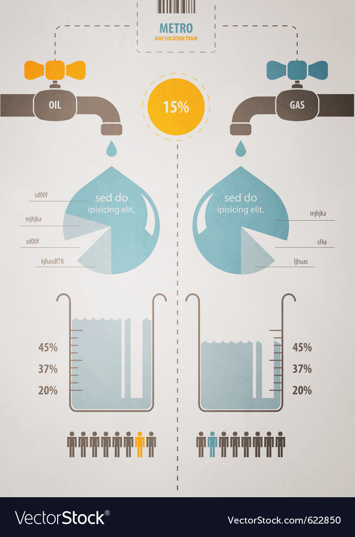 Retro infographics account scheme with a liquid vector