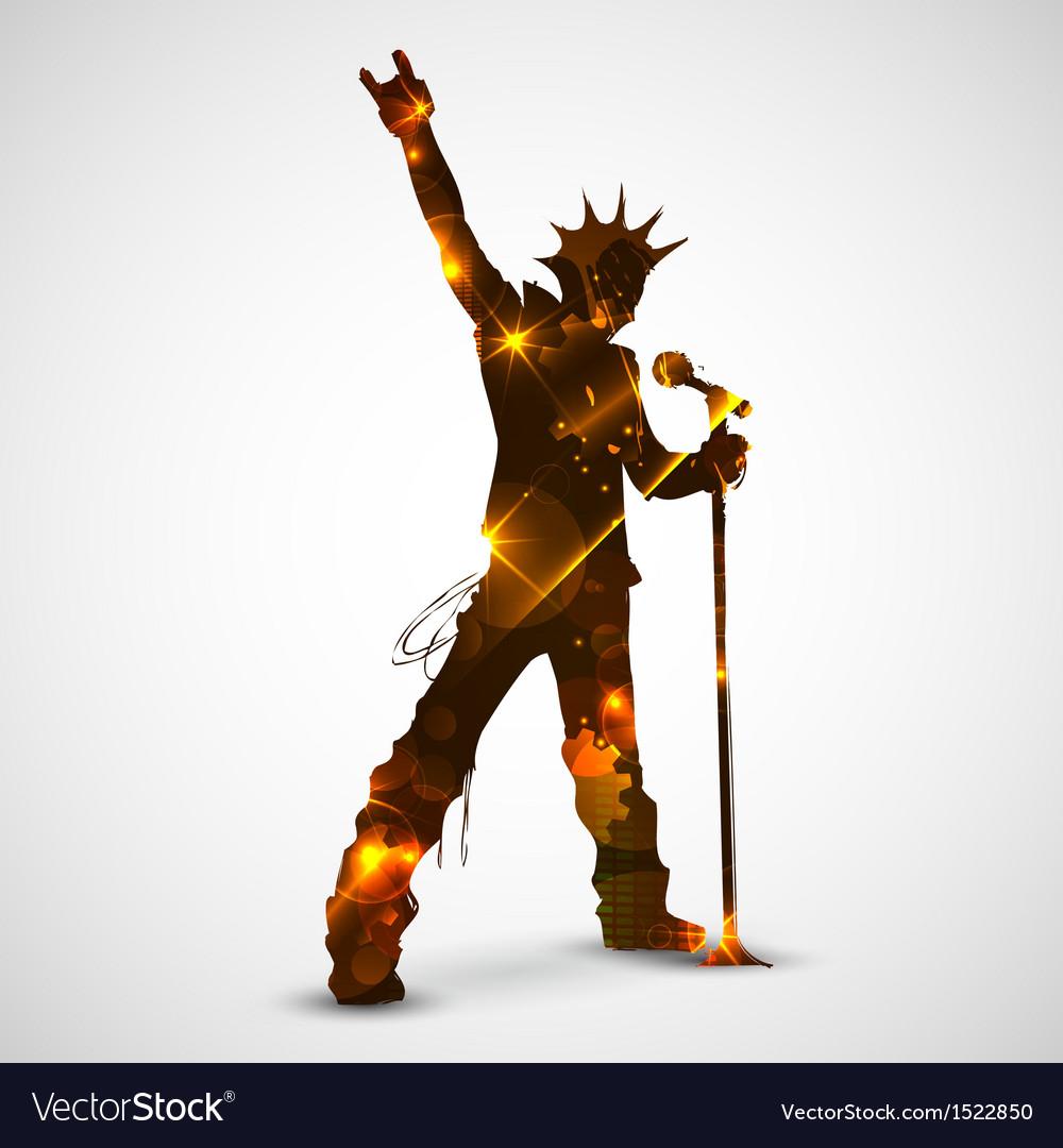 Singing rock star vector