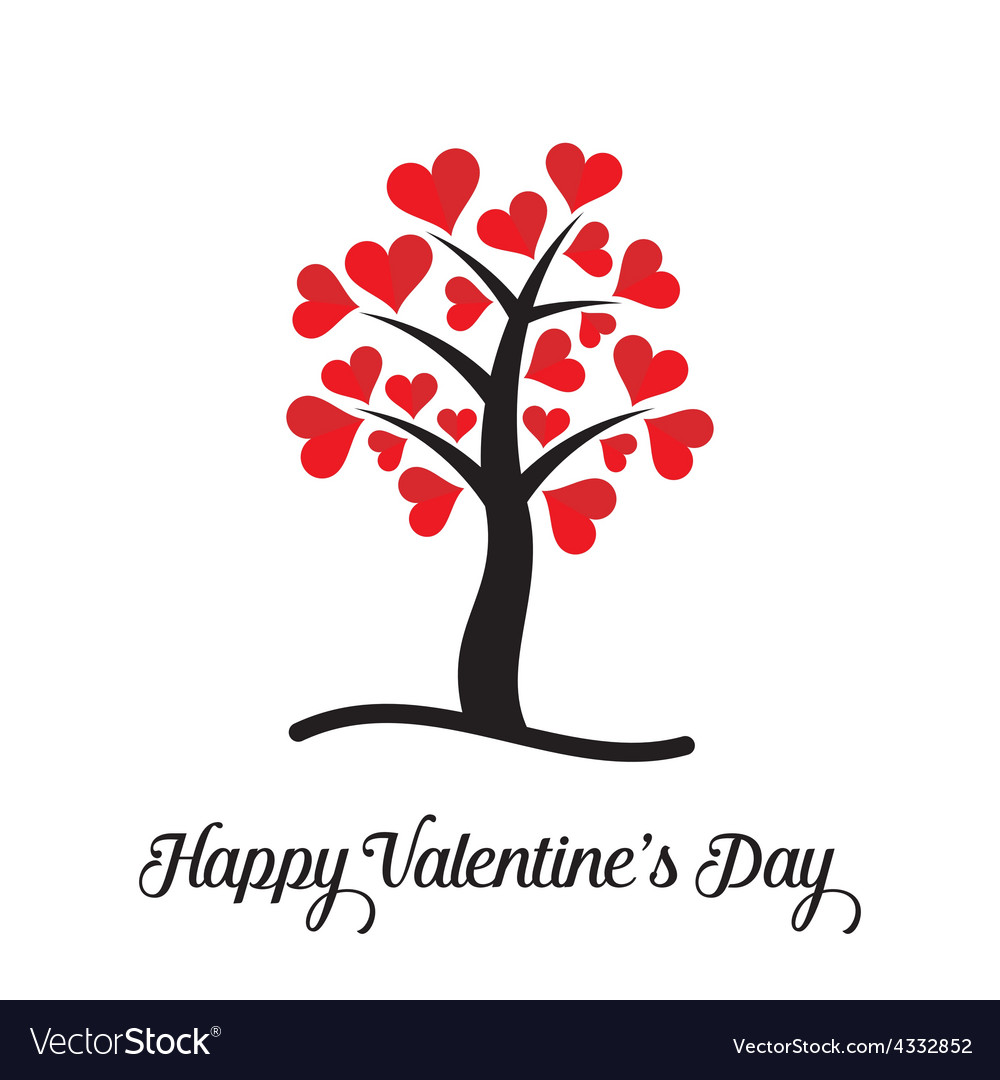 Happy valentine day card vector
