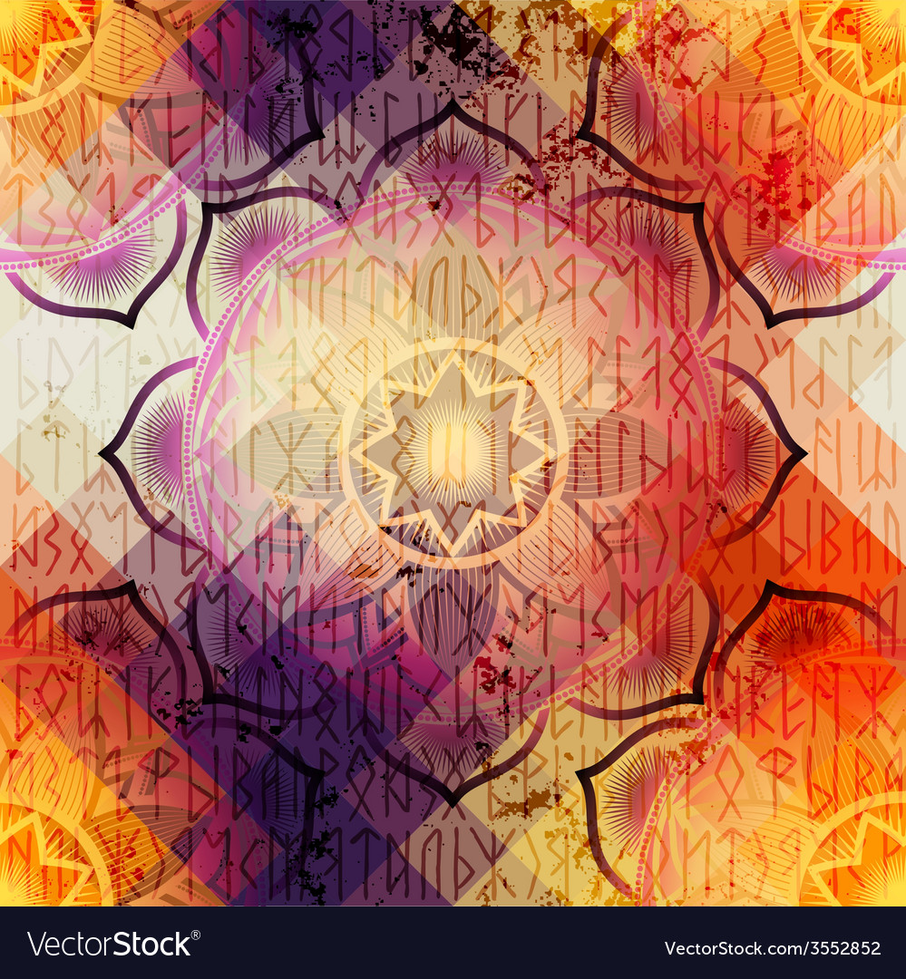 Mandala symbol seamless pattern vector