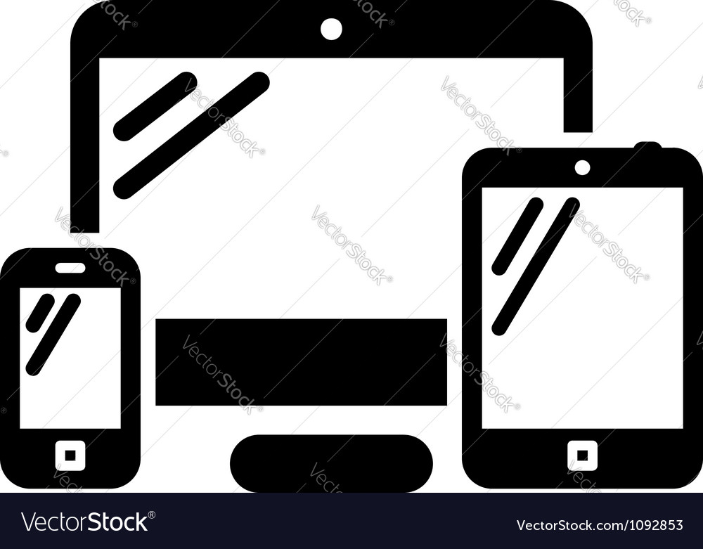 Phone computer and tablet vector