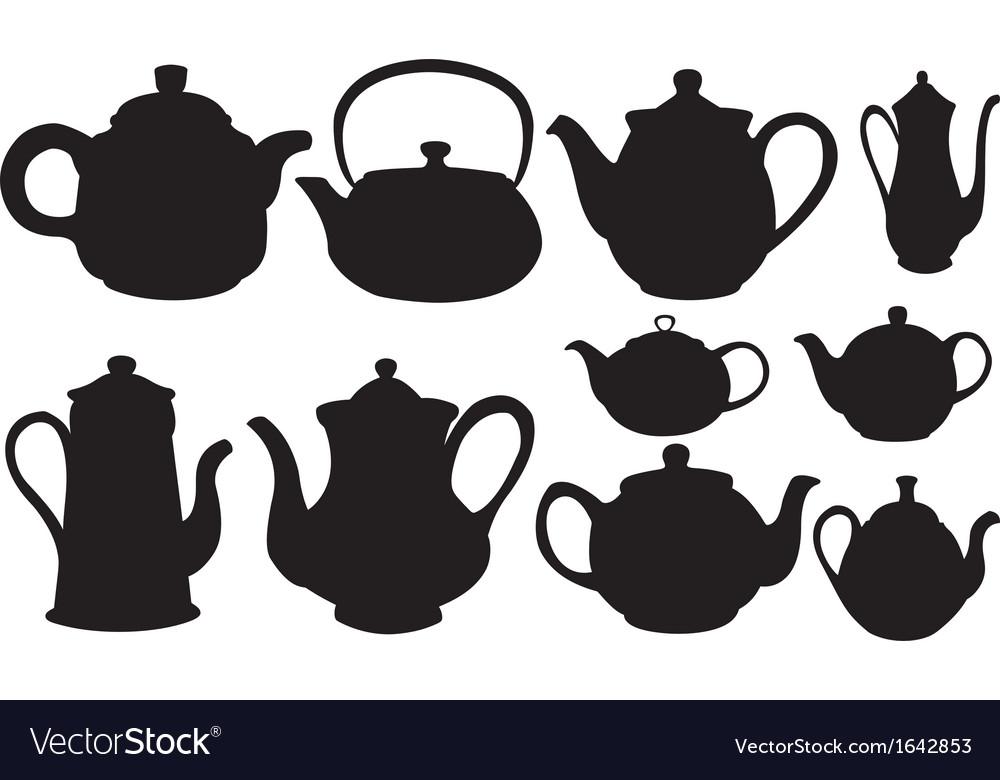 Tea pots vector