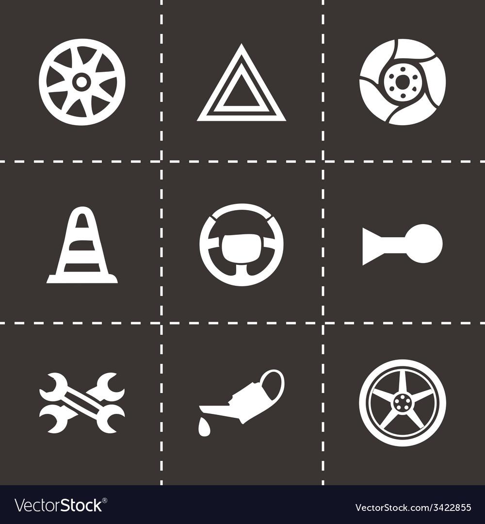 Car parts icons set vector