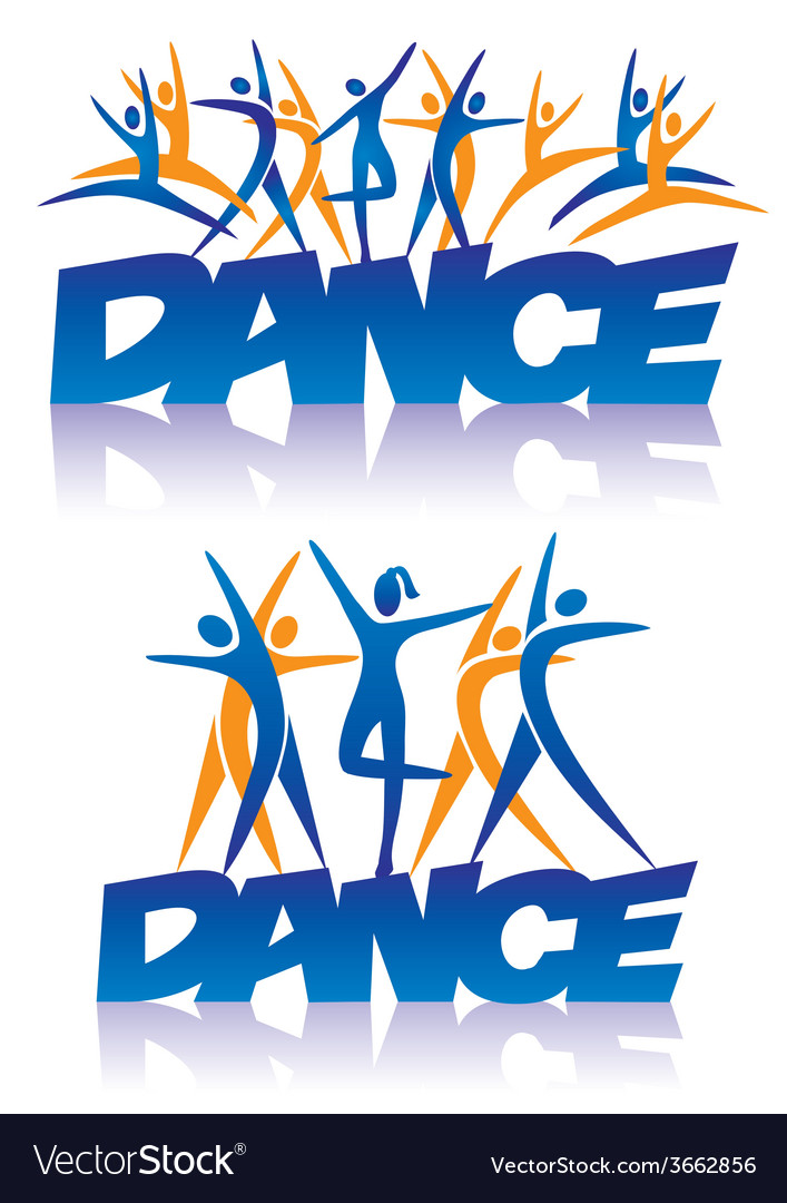 Dance sign with dance icons vector