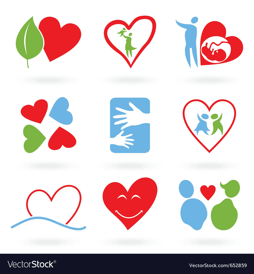 Icons of love vector