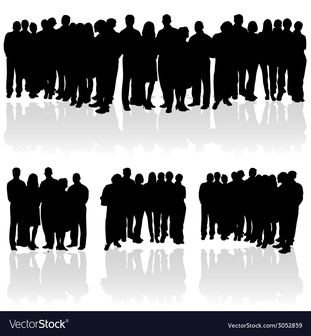 People group silhouette vector