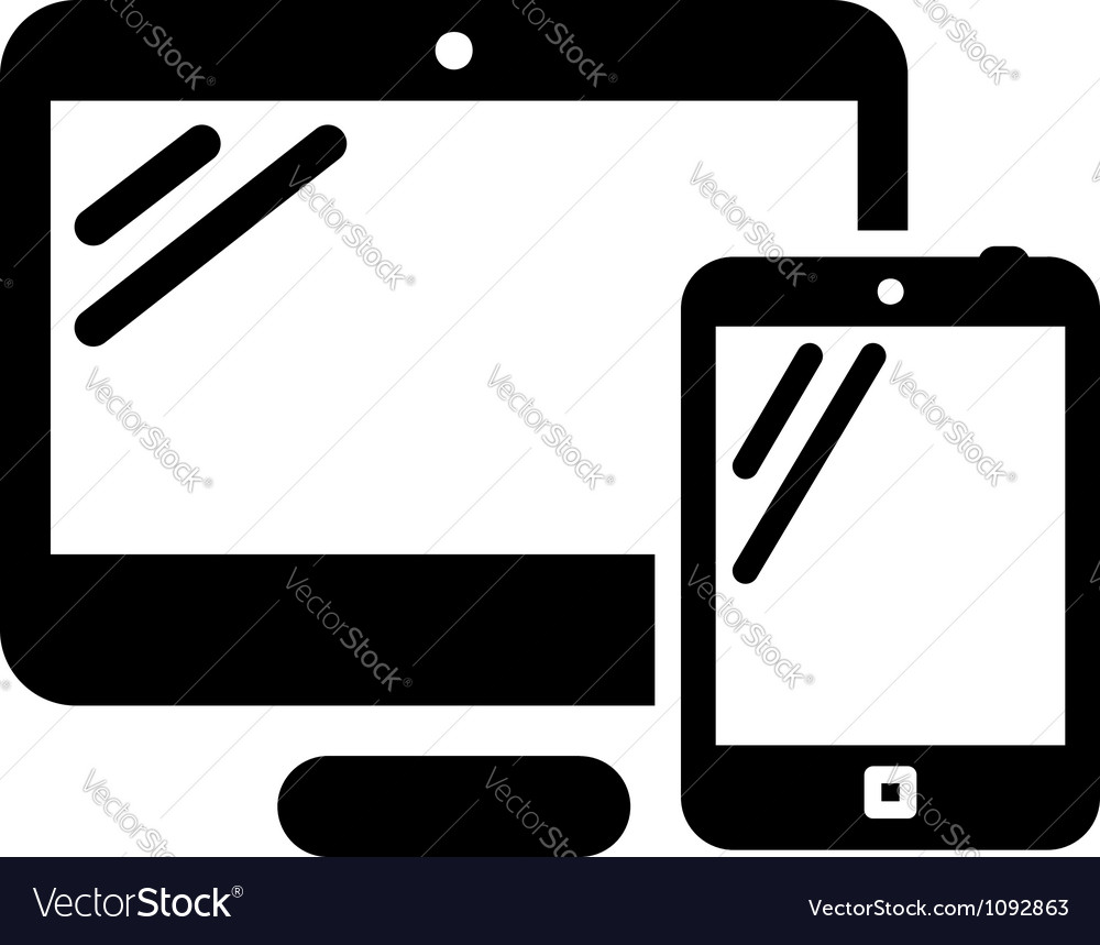 Personal computer and tablet vector