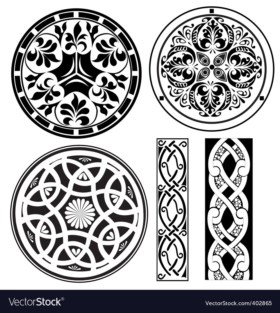 Ornamental round vector