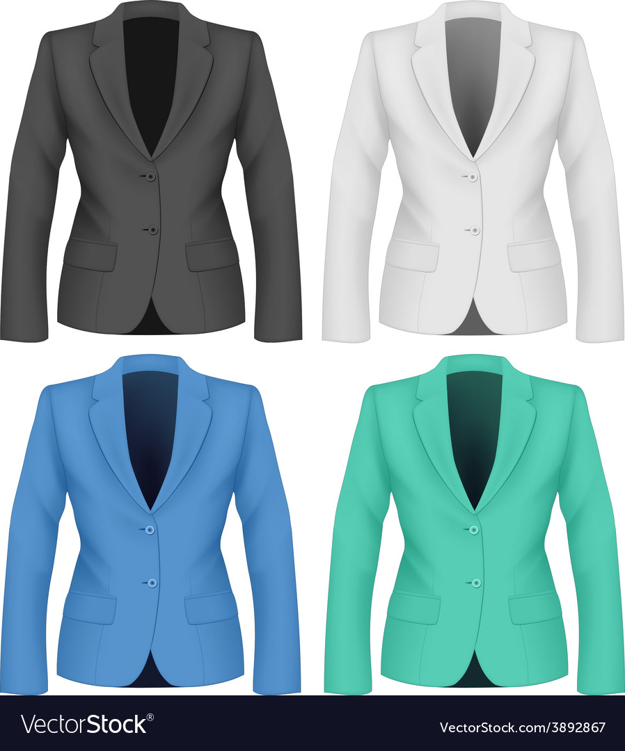 Formal work wear ladies suit jacket vector