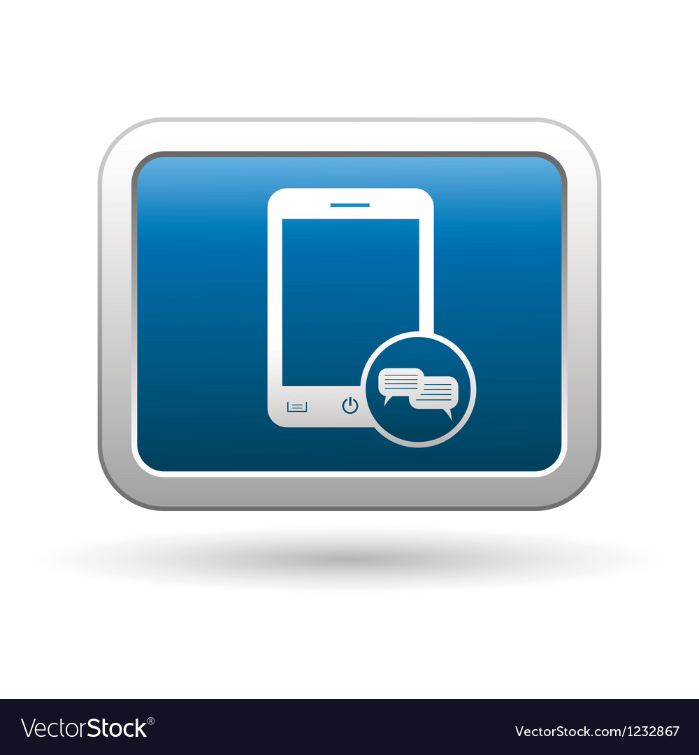 Phone icon with chat menu vector