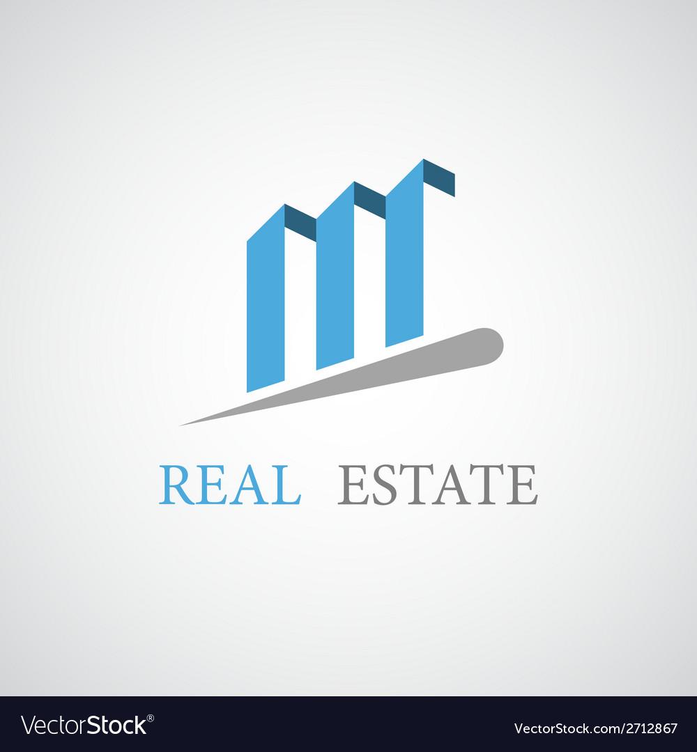 Real estate architecture icon vector