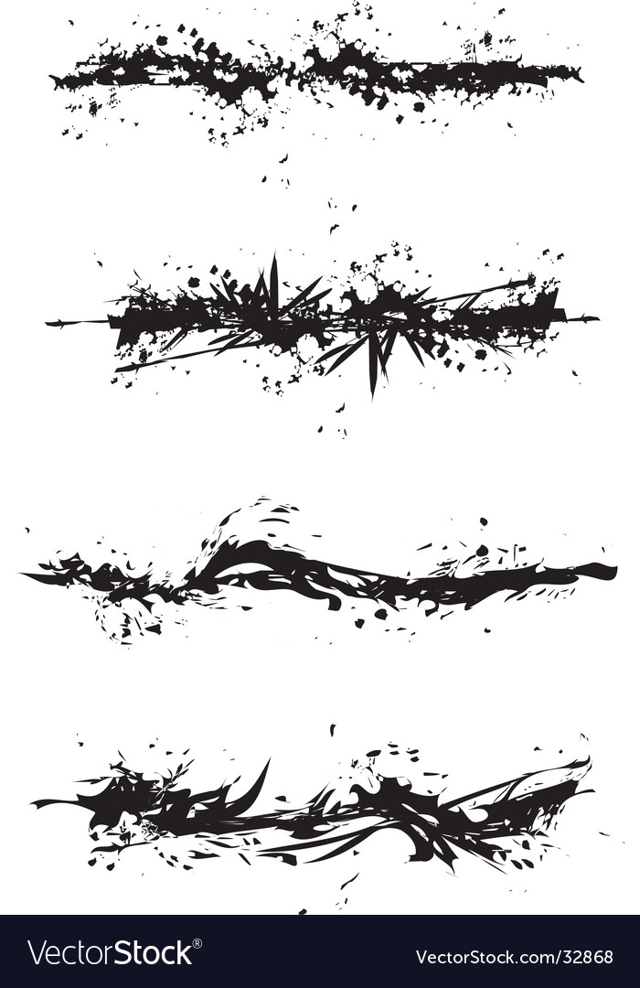 Grunge stain illustrations vector